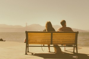 Couple on Park Bench - Estate Planning-Wills and trust